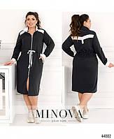 Стильное платье в спортивном стиле, впереди сквозная молния с 50 по 60 размер, фото 8