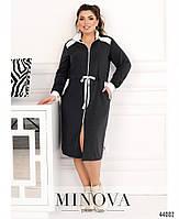 Стильное платье в спортивном стиле, впереди сквозная молния с 50 по 60 размер, фото 9