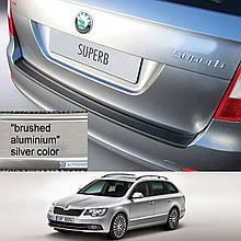 Пластикова захисна накладка на задній бампер для Skoda Superb Combi 2013-2015