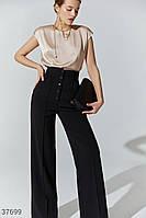 Широкие брюки с высокой талией XS,S,M,L