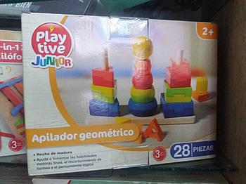Набор деревянных пирамидок PlayTive Три фигуры 28 эл Германия