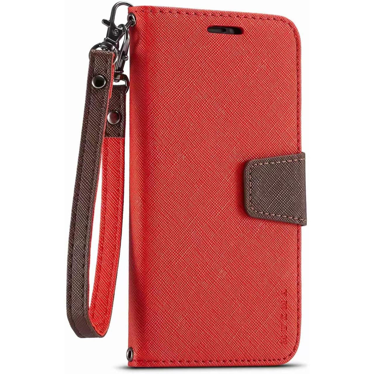 Чехол-книжка Muxma для Huawei P40 Lite E Red, Красный
