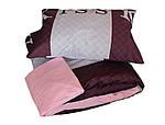 Двуспальный ЕВРО МАКСИ комплект постельного белья Сатин Люкс с компаньоном S463, фото 3