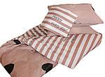 Двуспальный  Евро  комплект постельного белья Сатин Люкс с компаньоном S448, фото 3