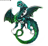 "Брошка-кулон,  ""Зеленый дракон"" от студии LadyStyle.Biz, фото 1"