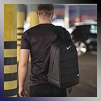 Рюкзак спортивный вместительный городской для тренировок на каждый день брендовый мужской черный