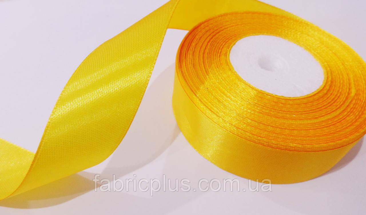 Лента атласная 2,5 см цвет апельсин (112)