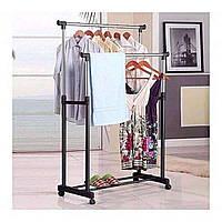 Телескопічна стійка органайзер вішалка для одягу та взуття Double Pole