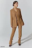 Бежевые брюки с разрезами XS,S,M,L