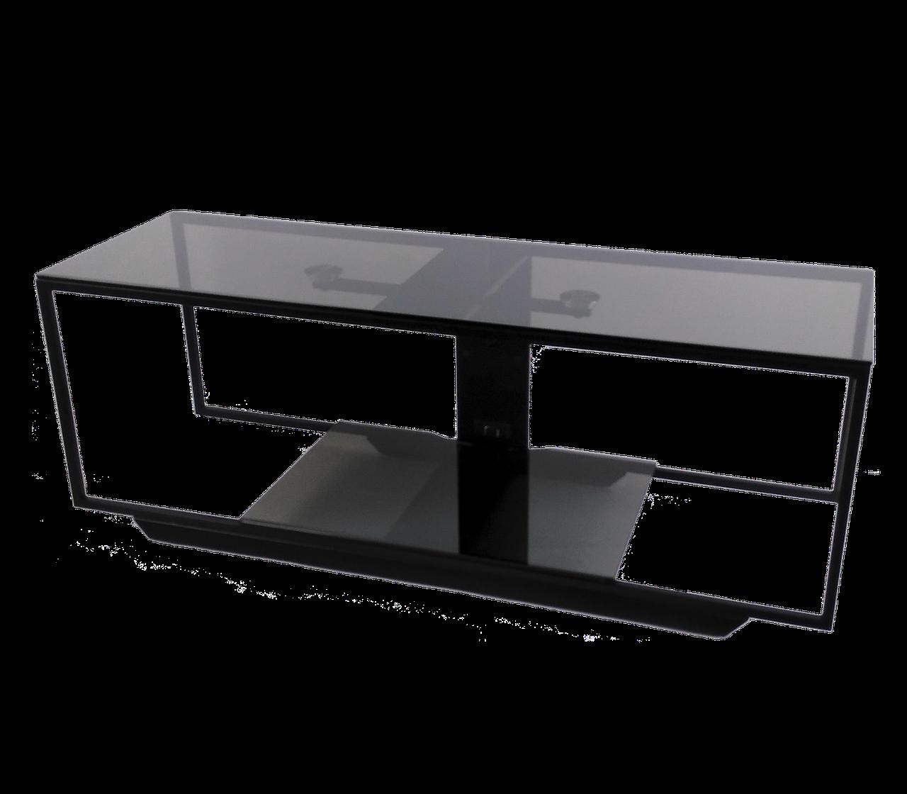 Скляна тумба під телевізори Commus Loft 1080 gray540 bl (1080x340x380)