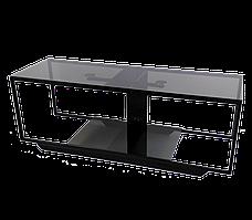 Стеклянная тумба под телевизоры Commus Loft 1080 gray540 bl (1080x340x380)
