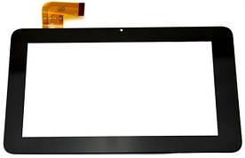 """Оригинальный Сенсор (Тачскрин) для планшета 7"""" Texet TM-7016   TM-7026 (188*116 мм,36 pin) (Черный-Самоклейка)"""