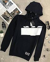 Черная кофта мужская Emporio Armani EA7 оригинал