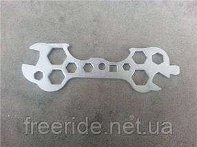 Ключ велосипедний вдосконалений (сімейний) Китай KL-9700A, фото 3
