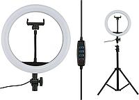 Кольцевая лампа 30 см штатив 2м