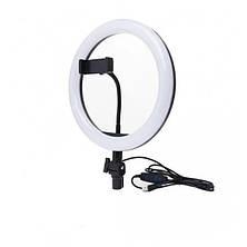 Кольцевая LED лампа SMN-12 30см 1 крепл.тел USB, фото 2