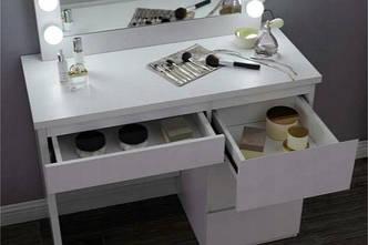Столик косметичний Bonro - білий (B071), фото 3