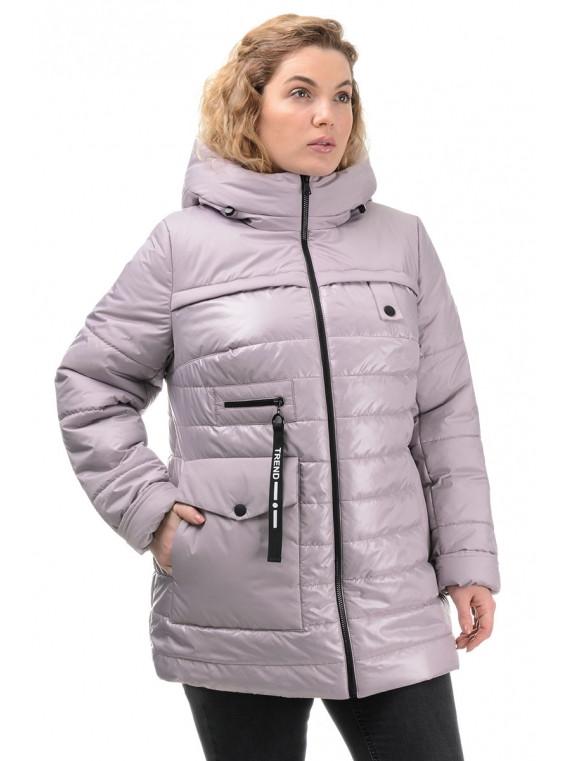 Жіноча демісезонна подовжена куртка 50-56 розмір