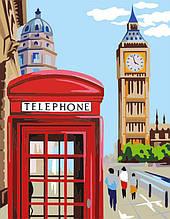 """Набор, техника акриловая живопись по номерам, """"Лондон"""", ROSA START"""