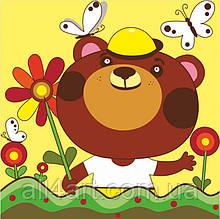 Набор для юного художника «Малювалка», «Медвеженок на прогулке», 20*30 см, ROSA KIDS