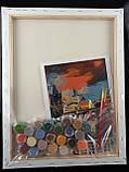 """Набор-стандарт, картина по номерам, """"Вечерний Карлов мост, 35х45см, ROSA START, фото 3"""