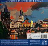 """Набор-стандарт, картина по номерам, """"Вечерний Карлов мост, 35х45см, ROSA START, фото 6"""