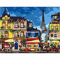 Набор акриловая живопись по номерам Life in Paris 35х45см ROSA START