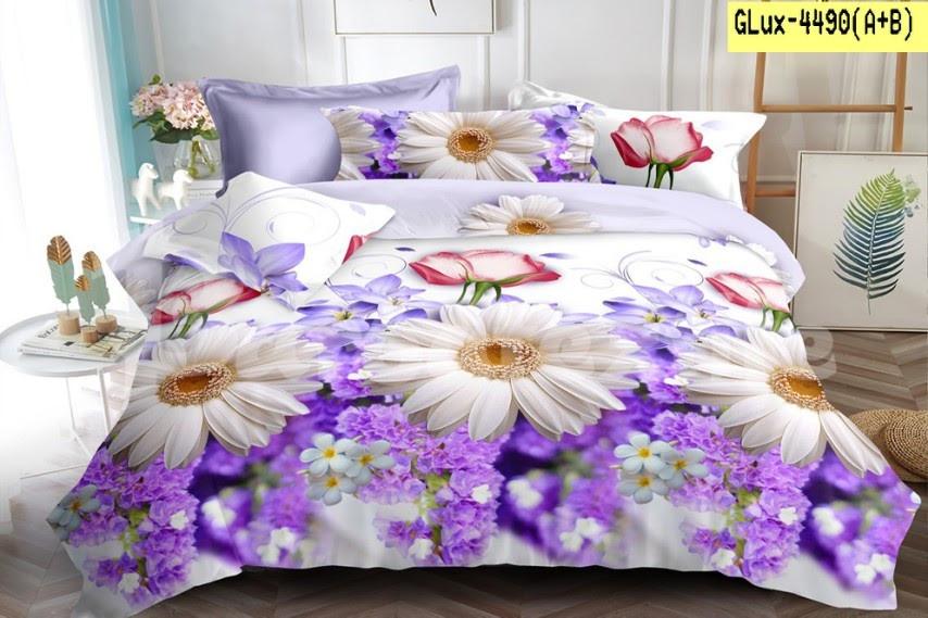 Півтораспальний постільний комплект -   Ромашки і бузок