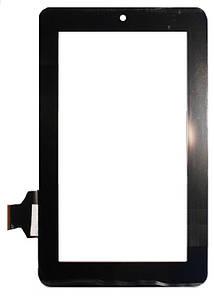 """Оригинальный Сенсор (Тачскрин) для планшета 7"""" Texet TM-7024 31pin (190x114mm) (Черный)"""