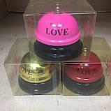 """Звонок настольный """"Ring for Love"""" розовый, золотистый, фото 4"""