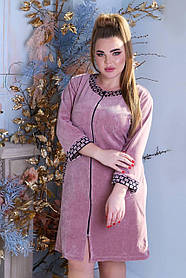 Жіночий халат велюровий великого розміру