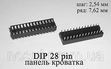 DIP 28 pin панель сокет кроватка (шаг 2,54 мм) под микросхемы в корпусах DIP28