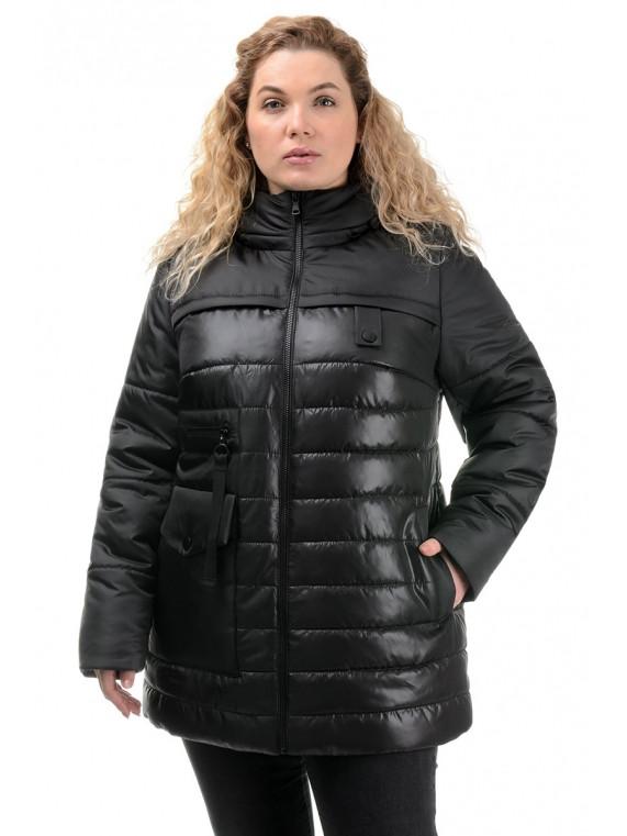 Демисезонная женская удлиненная куртка 50-56 размер