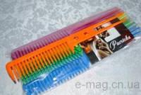 Расчёска Цветная Украина Женская с ручкой (дырка)-цена за 10 шт
