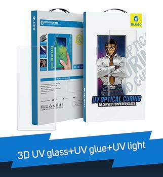 3D UV glass+UV glue+UV light