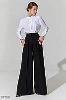 Трендовые брюки-палаццо черного цвета XS,S,M,L