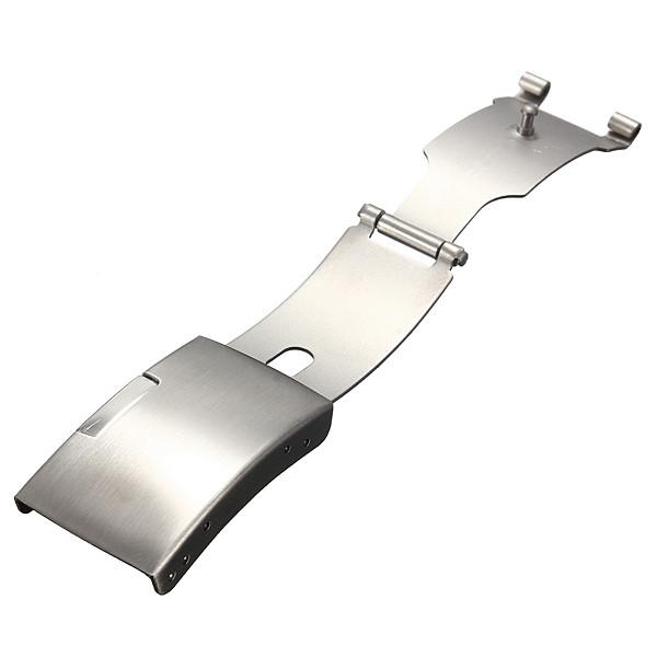 Застёжка для браслета часов с кнопочным фиксатором 18 мм.