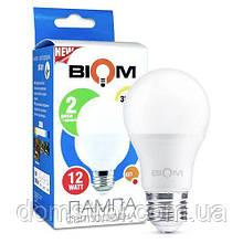 Светодиодная лампа Biom BT-511 A60 12W E27 3000К матовая