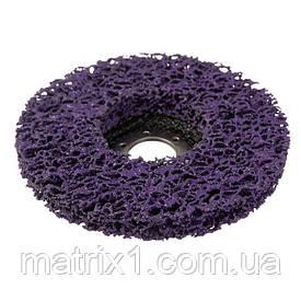 Диск зачистной из вспененного абразива фиолетовый 125*22,2*13 мм, P46, T27 INTERTOOL