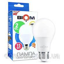 Светодиодная лампа Biom BT-516 A60 15W E27 4500К матовая