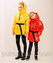 Куртка жилетка для девочки демисезонная размер 128-146