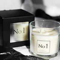 Свеча ароматическая в стекле Премиум №1 для дома Bispol два фитиля