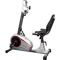 Велотренажер для реабилитации рук и ног горизонтальный магнитный USA Style IRON MASTER до 100 кг серый