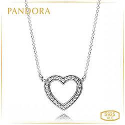 Пандора Колье Любящие сердца Pandora 590534CZ-45
