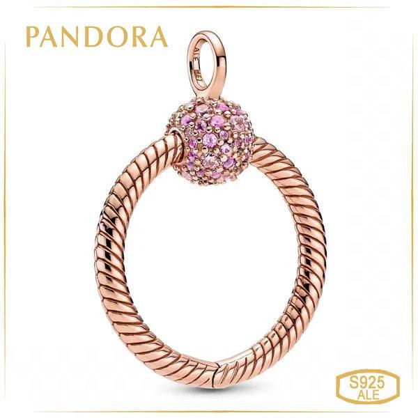 "Пандора Кулон Moments ""Pandora O"" маленький Rose 389097C01"