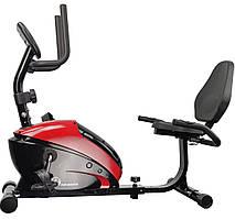 Велотренажер для дома горизонтальный магнитный USA Style IRON MASTER до 100 кг черный с красным