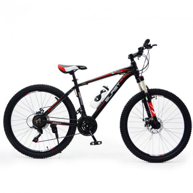 """Горный велосипед Hammer BLAST S300 R27,5"""" 18"""" алюминиевый с дисковыми тормозами (Черно-красный)"""