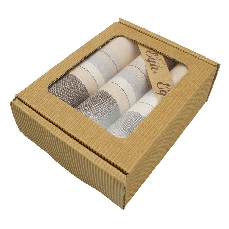 Світлі носові хустки для чоловіків у наборі Ega 3 шт CH-796/3 С