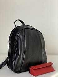 Чорний молодіжний рюкзак жіночий міський Pretty Woman