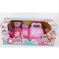 Розовая касса супермаркета с продуктами игрушка для девочки детский игровой набор